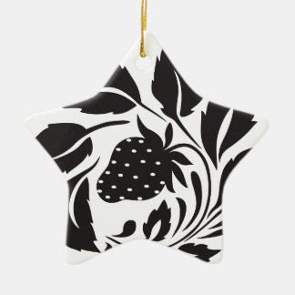 strawberry, nature, abstract, trees, foliage ceramic star ornament