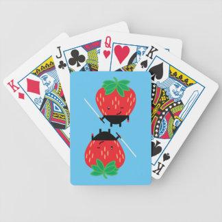 Strawberry-Ninja Bicycle Playing Cards