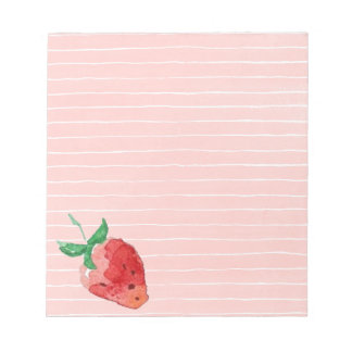 Strawberry Notepad