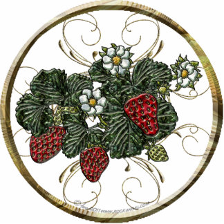 Strawberry Ornament Photo Cut Out