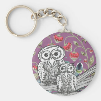Strawberry Owls Keychain