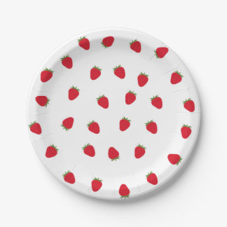 Strawberry Paper Plates 7 Inch Paper Plate