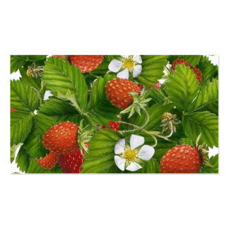 Strawberry Patch Business Card Template