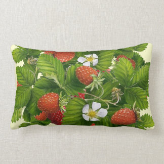 Strawberry Patch Lumbar Pillow