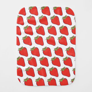 Strawberry Pattern Burp Cloth