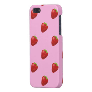 strawberry pattern iphone 5 matte iPhone 5 case