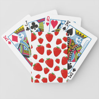 Strawberry pattern poker deck