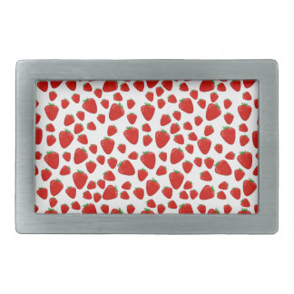 Strawberry  pattern rectangular belt buckle