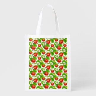 Strawberry Pattern Reusable Grocery Bag