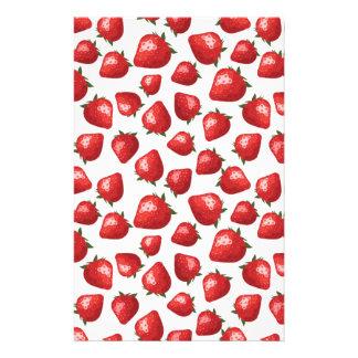 Strawberry Pattern Stationery