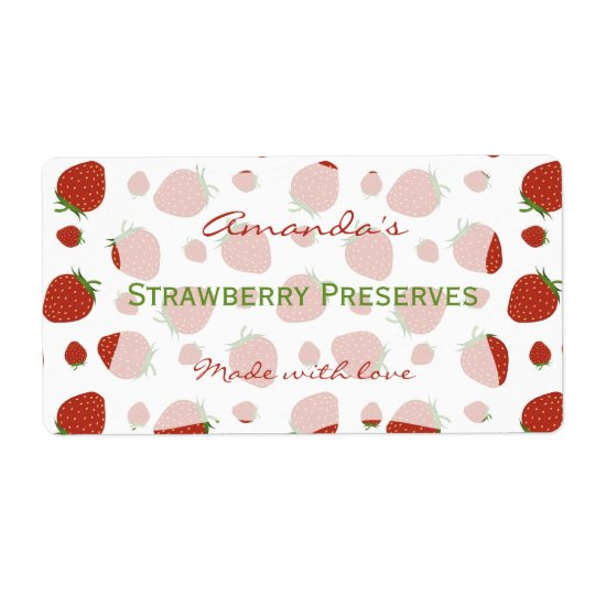 Strawberry Personalized Canning Label