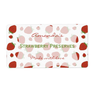 Strawberry Personalized Canning Label Shipping Label
