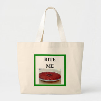 strawberry pie large tote bag