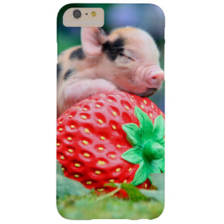 strawberry pig barely there iPhone 6 plus case