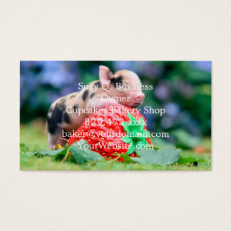 strawberry pig business card