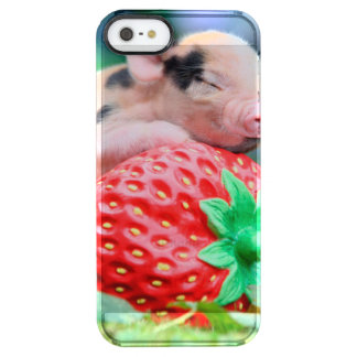 strawberry pig clear iPhone SE/5/5s case