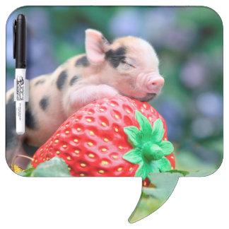 strawberry pig dry erase board