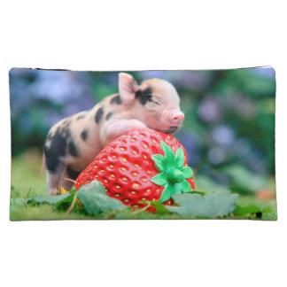 strawberry pig makeup bag