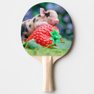 strawberry pig ping pong paddle
