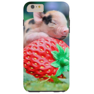 strawberry pig tough iPhone 6 plus case