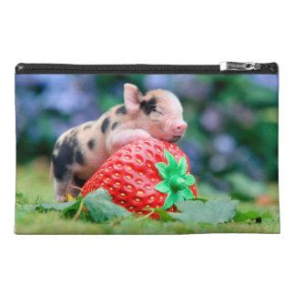 strawberry pig travel accessory bag