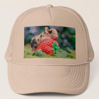 strawberry pig trucker hat