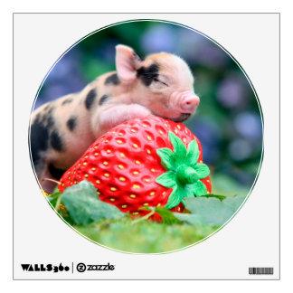 strawberry pig wall sticker