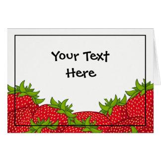 Strawberry Pile Blank Card