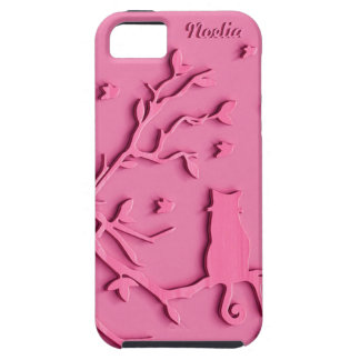 STRAWBERRY PINK  CAT  PERSONAL PHONE CASE