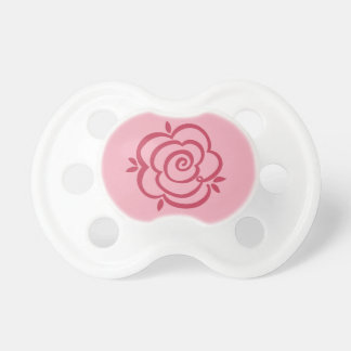 Strawberry Pink Rosebud Pacifier