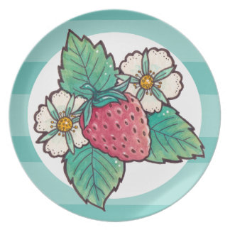 Strawberry Plant Party Plate