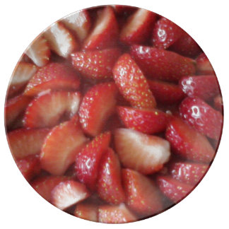 Strawberry Plate Porcelain Plate