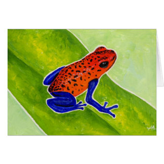 Strawberry Poison Dart Frog Card