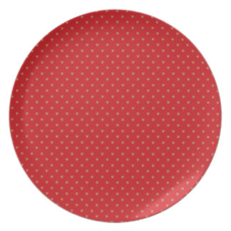 Strawberry pop pattern plates