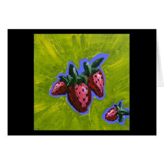 Strawberry Pow Greeting Card