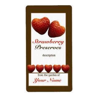 Strawberry Preserves Canning Jar Label 1 Shipping Label