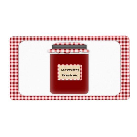 Strawberry Preserves Jar Label