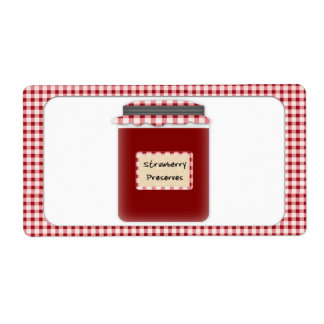 Strawberry Preserves Jar Label Shipping Label