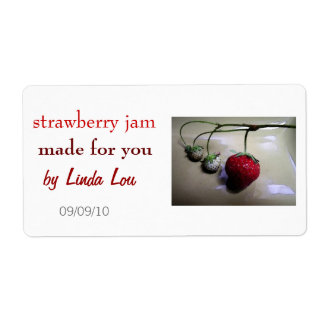 Strawberry Preserves or Jam Label Shipping Label