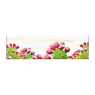 strawberry prickly pear canvas print