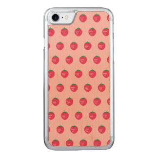 Strawberry Print Carved iPhone 8/7 Case