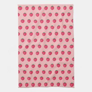 Strawberry Print Hand Towels