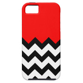 Strawberry Red Pattern On Large Zigzag Chevron iPhone 5 Covers