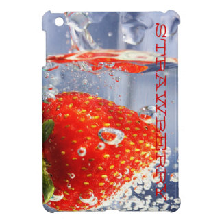 Strawberry red water in glass glossy fancy case for the iPad mini