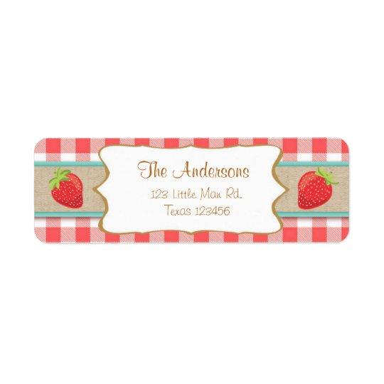 Strawberry Return Address Labels Summer fruit