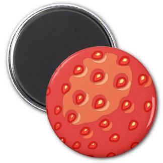 Strawberry Round Magnet