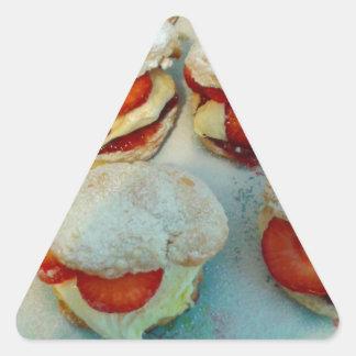 Strawberry Scones/Cakes Triangle Sticker