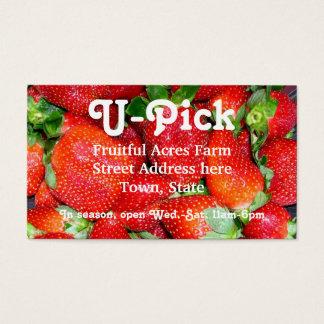 Strawberry Season Business Card