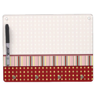 Strawberry Seeds Pattern With Border Dry-Erase Boards