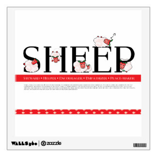 Strawberry SHEEP Poster Wall Decal